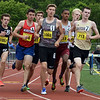 CARL RUSSO/Staff photo Haverhill's Tim Corliss competes in the one mile run. East Mass. Div. 1 boys and girls  track meet was held at Andover High school Monday afternoon.  5/28/2018