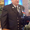 TIM JEAN/Staff photo<br /> <br /> Firefighter of the Year award recipient Lt. Christopher Cesati says a few words after receiving his award during the Exchange Club of Haverhill Annual First Responders Award Luncheon held at Maria's Family Restaurant in Haverhill.  6/3/21