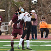 CARL RUSSO/staff photo Greater Lawrence's Lisette Perez controls the ball. Whittier Tech. high school defeated Greater Lawrence Tech. 7-0 in boys'  soccer action Wednesday afternoon. 3/24/2021