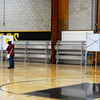 CARL RUSSO/staff photo Voting booths were kept at a safe distance for voters seen here at Ward 1, Precinct 1, Consentino Middle School in Haverhill.  Haverhill residents voted in Tuesday's presidential election.11/03/2020