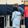 CARL RUSSO/staff photo People vote at Ward 3, Precinct 1 at Haverhill High School. Haverhill residents voted in Tuesday's presidential election.11/03/2020