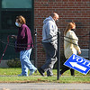 CARL RUSSO/staff photo Haverhill residents are seen coming and going on election day at Ward 3, Precinct 1 at the Haverhill High School. Haverhill residents voted in Tuesday's presidential election.11/03/2020