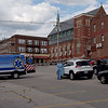 TIM JEAN/Staff photo<br /> <br /> A medical worker takes down information before a resident is tested a drive-up testing site for COVID-19 set up in the Locke Street parking lot owned by the City of Haverhill.    10/1/20