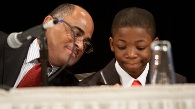 David-mentor & Chad-mentee. 2012 National Mentoring Summit. Corporation for National and Community Service Photo.