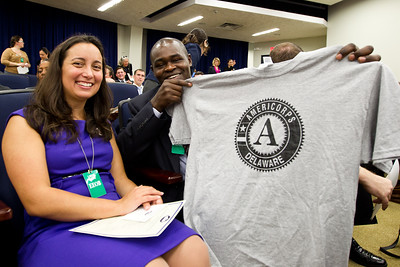 AmeriCorps Alums pause for a group picture during the AmeriCorps Alums Day at the White House. Corporation for National and Community Service Photo.