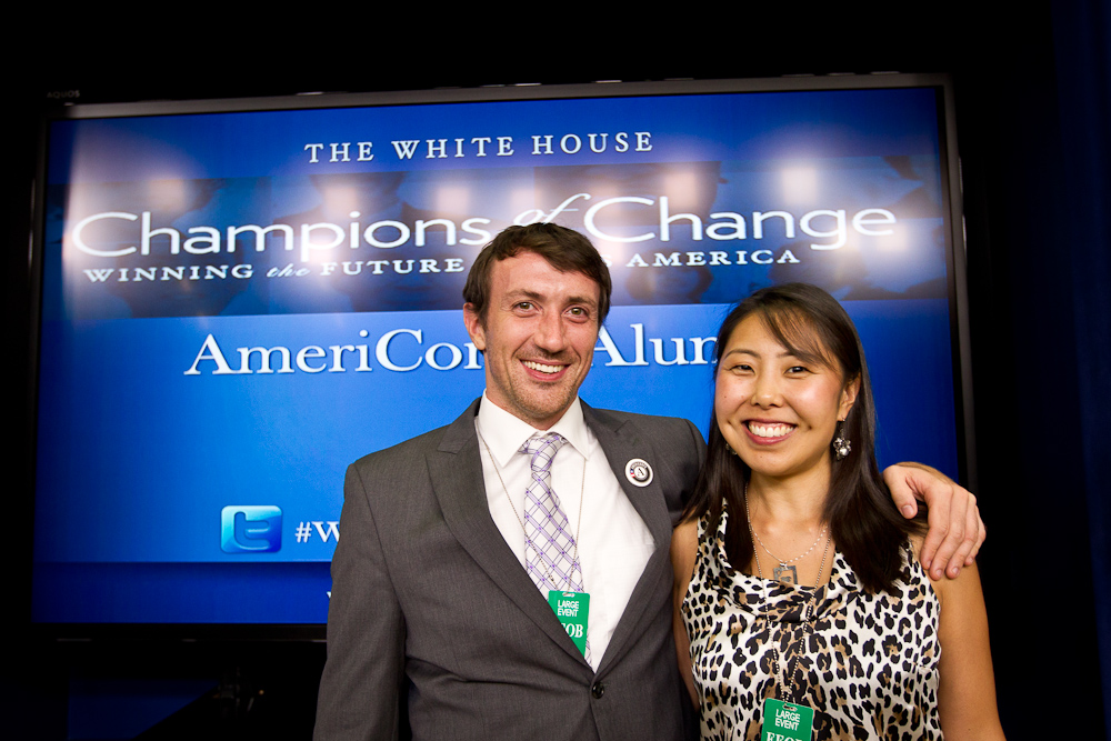 AmeriCorps Alums pose for a group pictures at the AmeriCorps Alums Day at the White House. Corporation for National and Community Service Photo.