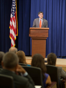 Jack Lew, Chief of Staff to the President, welcomes the Americorps Alums to the White Houses and commends them for their national service. Corporation for National and Community Service Photo.