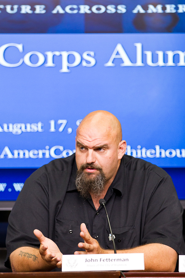 Mayor John Fetterman, Braddock, Pennsylvania. Corporation for National and Community Service Photo.