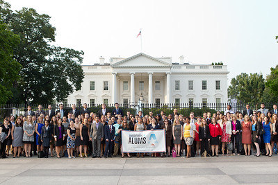 AmeriCorps Alums pose for a photo before starting AmeriCorps Alums Day at the White House on August 17, 2012. (CNCS Photo)
