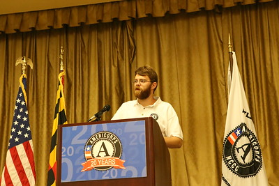 AmeriCorps NCCC member speaking at the open house for the AmeriCorps NCCC campus in Dundalk, MD. Corporation for National and Community Service Photo.
