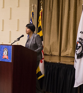 Mayor Stephanie Rawlings-Blake of Baltimore speaks during the open house ceremony at the AmeriCorps NCCC Baltimore campus. Corporation for National and Community Service Photo.