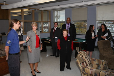 AmeriCorps member giving a tour of the new Baltimore campus in Dundalk, MD. Corporation for National and Community Service Photo.