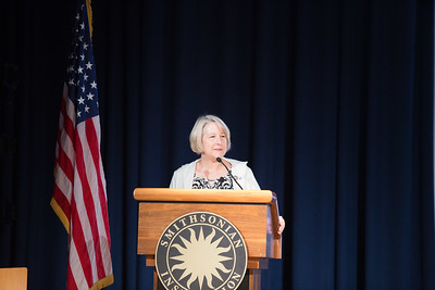 Director, Peace Corps, Carrie Hessler-Radelet speaking at the AmeriCorps VISTA 50th anniversary celebration held at the National Museum of the American Indian in Washington, D.C. Corporation for National and Community Service Photo.