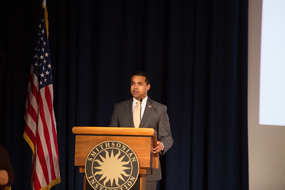 Director, AmeriCorps VISTA, Paul Monteiro giving opening remarks at the AmeriCorps VISTA 50th anniversary celebration held at the National Museum of the American Indian in Washington, D.C. Corporation for National and Community Service Photo.