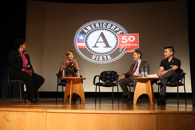 AmeriCorps VISTA panel discussing theire experiences  led by moderator Micia Mosely at the AmeriCorps VISTA 50th anniversary celebration held at the National Museum of the American Indian in Washington, D.C. Corporation for National and Community Service Photo