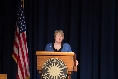 CNCS CEO Wendy Spencer giving remarks at the AmeriCorps VISTA 50th anniversary celebration held at the National Museum of the American Indian in Washington, D.C. Corporation for National and Community Service Photo.