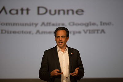 Matt Dunne, Former AmeriCorps VISTA Director and Head of Community Affairs, Google, Inc. speaking at the AmeriCorps VISTA 50th anniversary celebration held at the National Museum of the American Indian in Washington, D.C. Corporation for National and Community Service Photo.