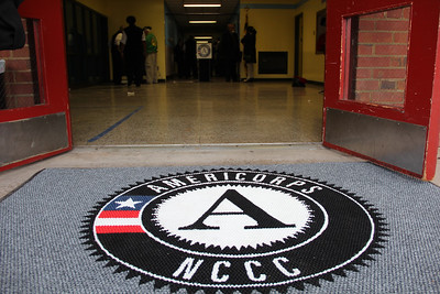 The entryway to the future home of the AmeriCorps NCCC Atlantic Region Campus in Baltimore, MD. The new campus, which is scheduled to open in spring of 2013, is located at the former Sacred Heart of Mary School in the Dundalk neighborhood of Baltimore.