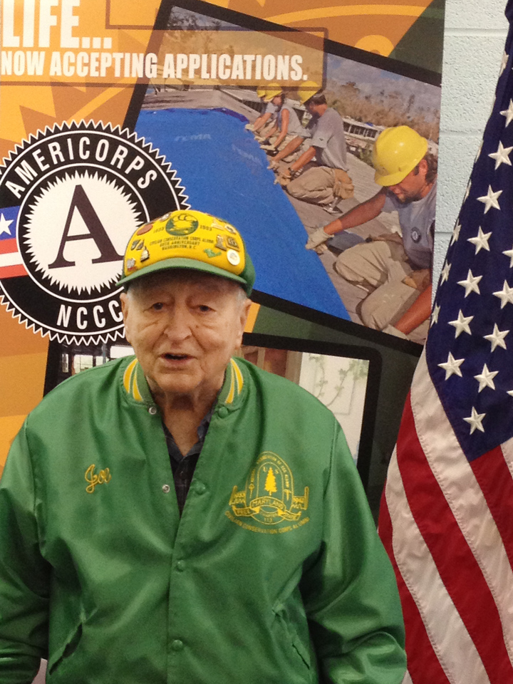 Civilian Conservation Corps (CCC) alumnus Joseph De Cenzo speaks about the importance of national service at the future home of the AmeriCorps NCCC Atlantic Region Campus in Baltimore, MD. Corporation for National and Community Service Photo.