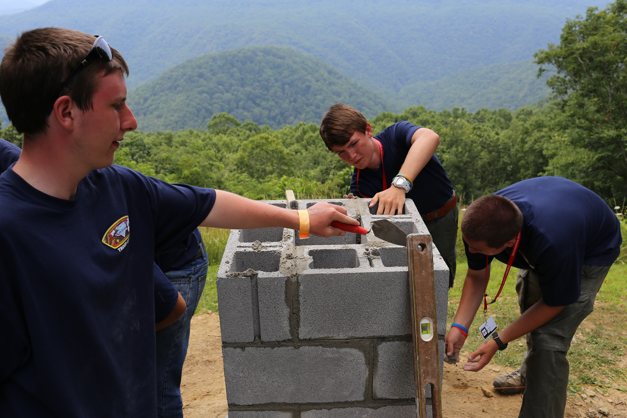 Boy Scouts serving at a state park in West Virginia. Corporation for National and Community Service Photo.