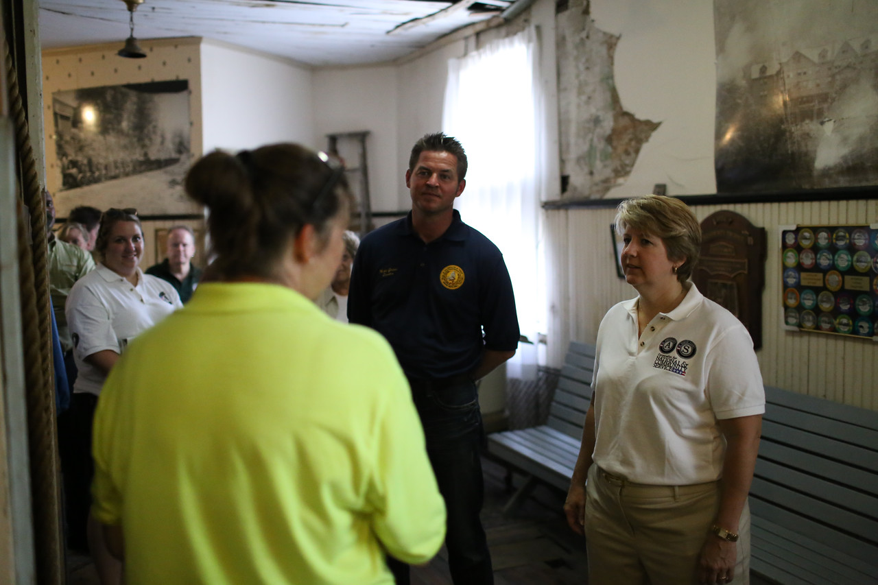 CNCS CEO, Wendy Spencer and WV State Senator, Mike Green (D - Raleigh, 09) getting a tour of the Whipple County Store in Whipple, WV.  Corporation for National and Community Service Photo.