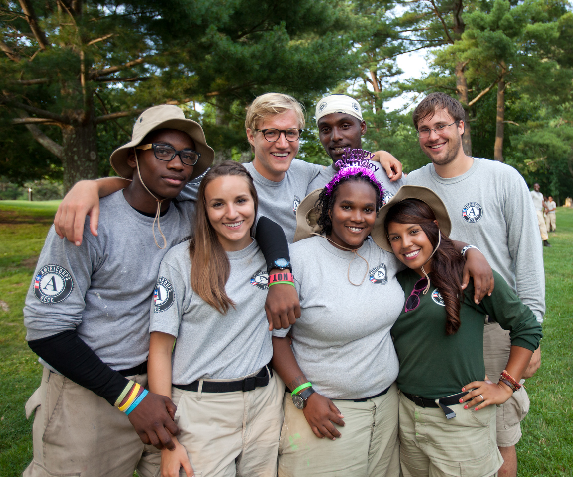AmeriCorps NCCC members serving in West Virginia. Corporation for National and Community Service Photo.