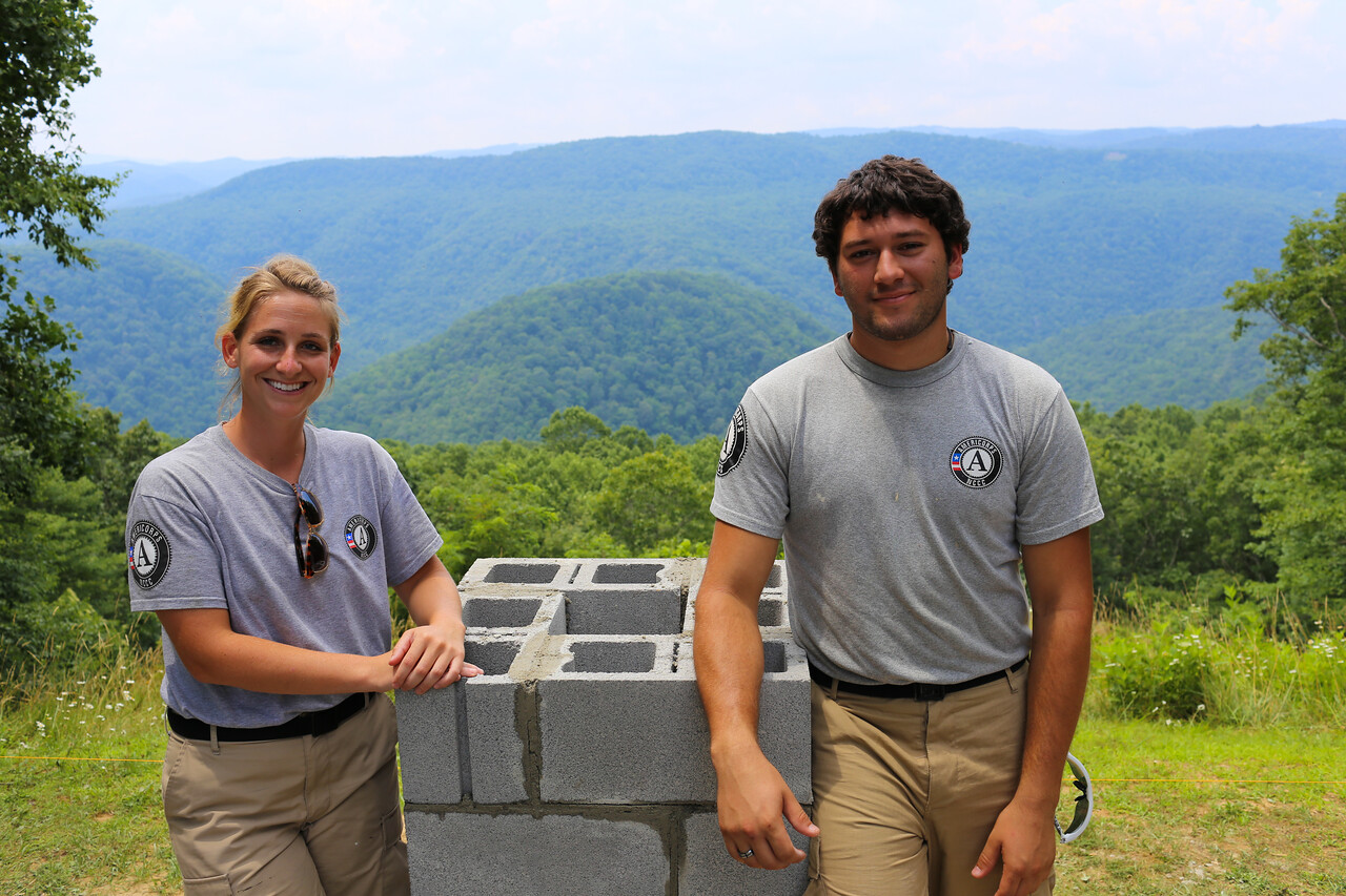AmeriCorps members serving at a state park in West Virginia. Corporation for National and Community Service Photo.