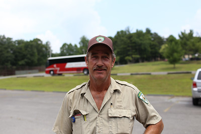 Park Ranger assisting AmeriCorps members in managing boy scouts serving at a state park in West Virginia. Corporation for National and Community Service Photo.Corporation for National and Community Service Photo.