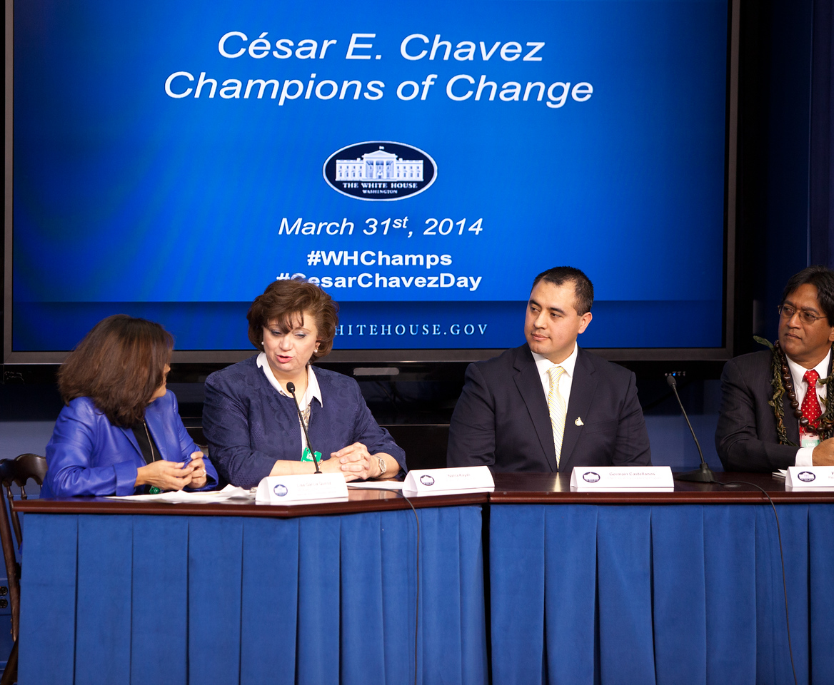 Panel at the Cesar E. Chavez Champions of Change event at the White House. Corporation for National and Community Service Photo.