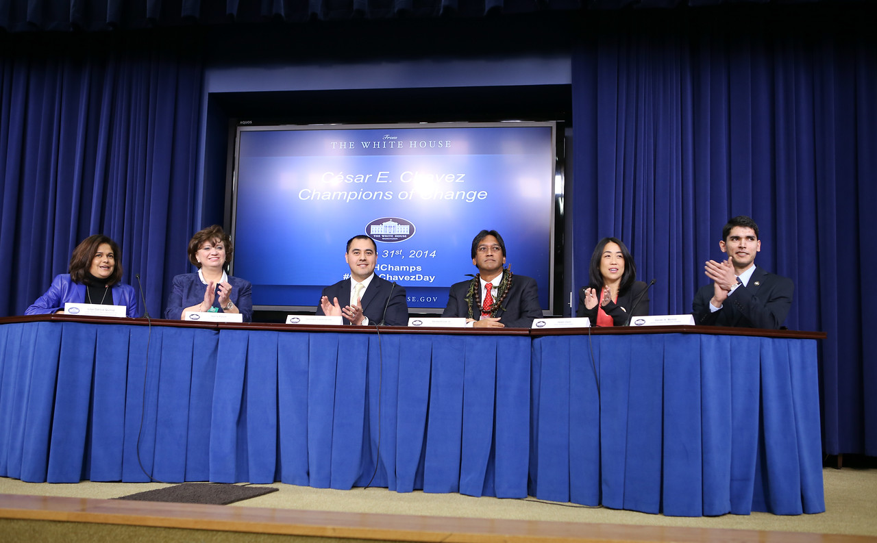 Champions panel at the Cesar E. Chavez Champions of Change event at the White House. Corporation for National and Community Service Photo.