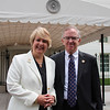 CNCS CEO Wendy Spencer with honoree Rob Collier outside the White House at a Champions of Change event on May 1, 2015. Corporation for National and Community Service Photo.