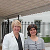 CNCS CEO Wendy Spencer with honoree Samira Rajan outside the White House at a Champions of Change event on May 1, 2015. Corporation for National and Community Service Photo.