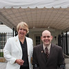CNCS CEO Wendy Spencer with honoree Brian Valdez outside the White House at a Champions of Change event on May 1, 2015. Corporation for National and Community Service Photo.