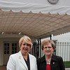 CNCS CEO Wendy Spencer with honoree Karen Vauk outside the White House at a Champions of Change event on May 1, 2015. Corporation for National and Community Service Photo.