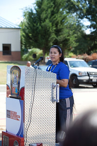 A guest speaks at the 9/11 Day of Service at the D.C. Fire and EMS training facility. Corporation for National and Community Service Photo.