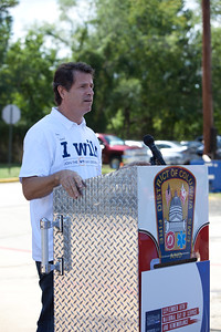 President and Co-founder, My Good Deed, David Paine speaks at the 9/11 Day of Service at the D.C. Fire and EMS training facility. Corporation for National and Community Service Photo.