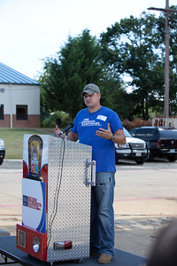 Service Projects Associate, The Mission Continues and VISTA alum, James Casey speaks at the 9/11 Day of Service at the D.C. Fire and EMS training facility. Corporation for National and Community Service Photo.