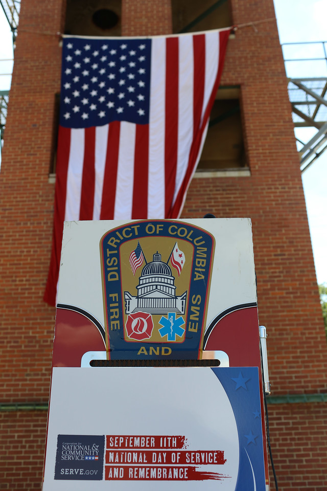 9/11 Day of Service at the D.C. Fire and EMS training facility. Corporation for National and Community Service Photo.
