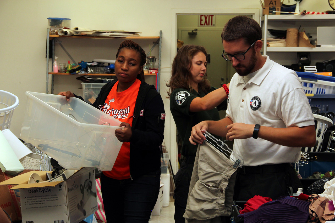 AmeriCorps members and volunteers sort donated clothing at Martha's Table in Washington, D.C. on the September 11th National Day of Service and Remembrance. Corporation for National and Community Service Photo.