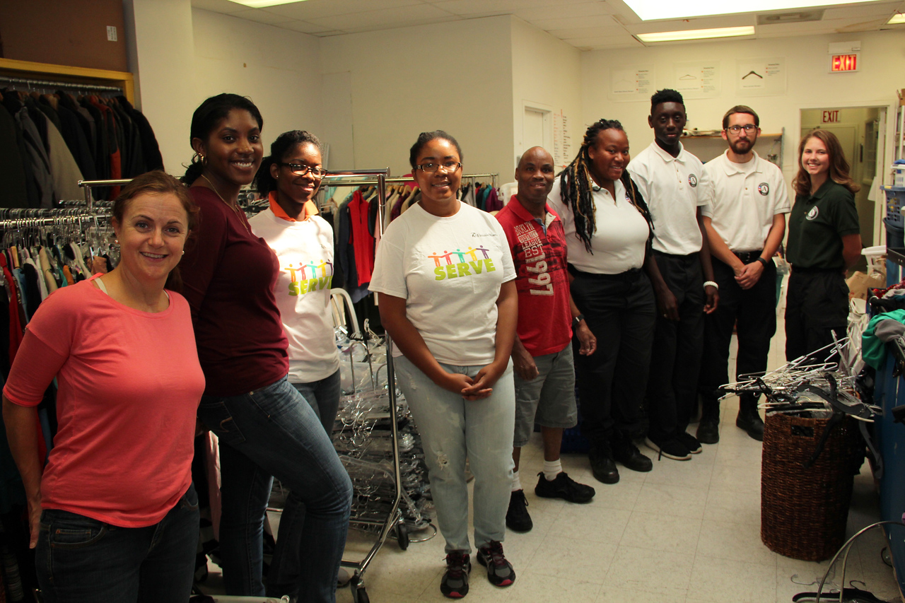 AmeriCorps members and volunteers sorted clothing donated for affordable resale at Martha's Table in Washington, D.C. on the September 11th National Day of Service and Remembrance. Corporation for National and Community Service Photo.