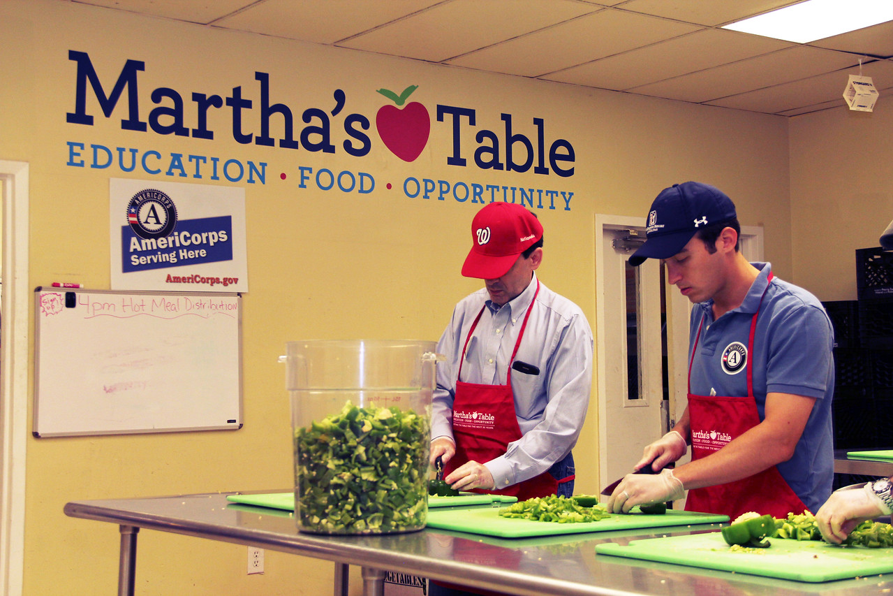 Volunteers serve at Martha's Table in Washington, D.C. on the September 11th National Day of Service and Remembrance. Corporation for National and Community Service Photo.