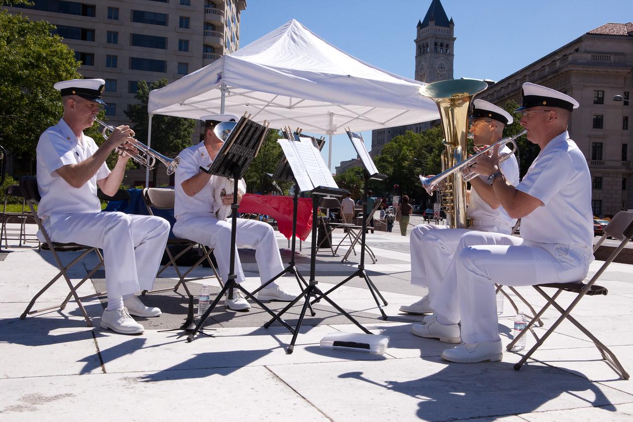 U.S. Navy Brass Quartet. Corporation for National and Community Service Photo.