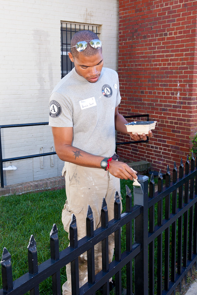 AmeriCorps members painting. Corporation for National and Community Service Photo.