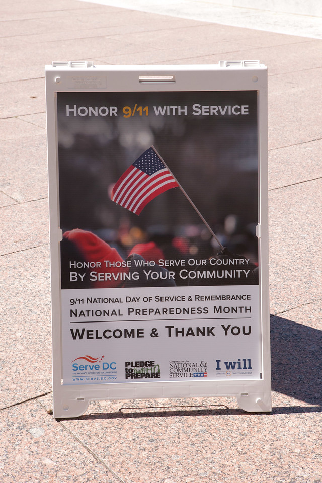 9/11 Day of Service and Remembrance Freedom Plaza, Washington D.C. Corporation for National and Community Service Photo.