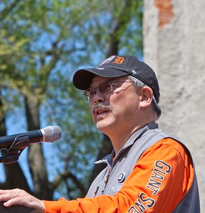 San Francisco Mayor Edwin M. Lee speaks at the Service Bowl in Baltimore, MD. Corporation for National and Community Service Photo.