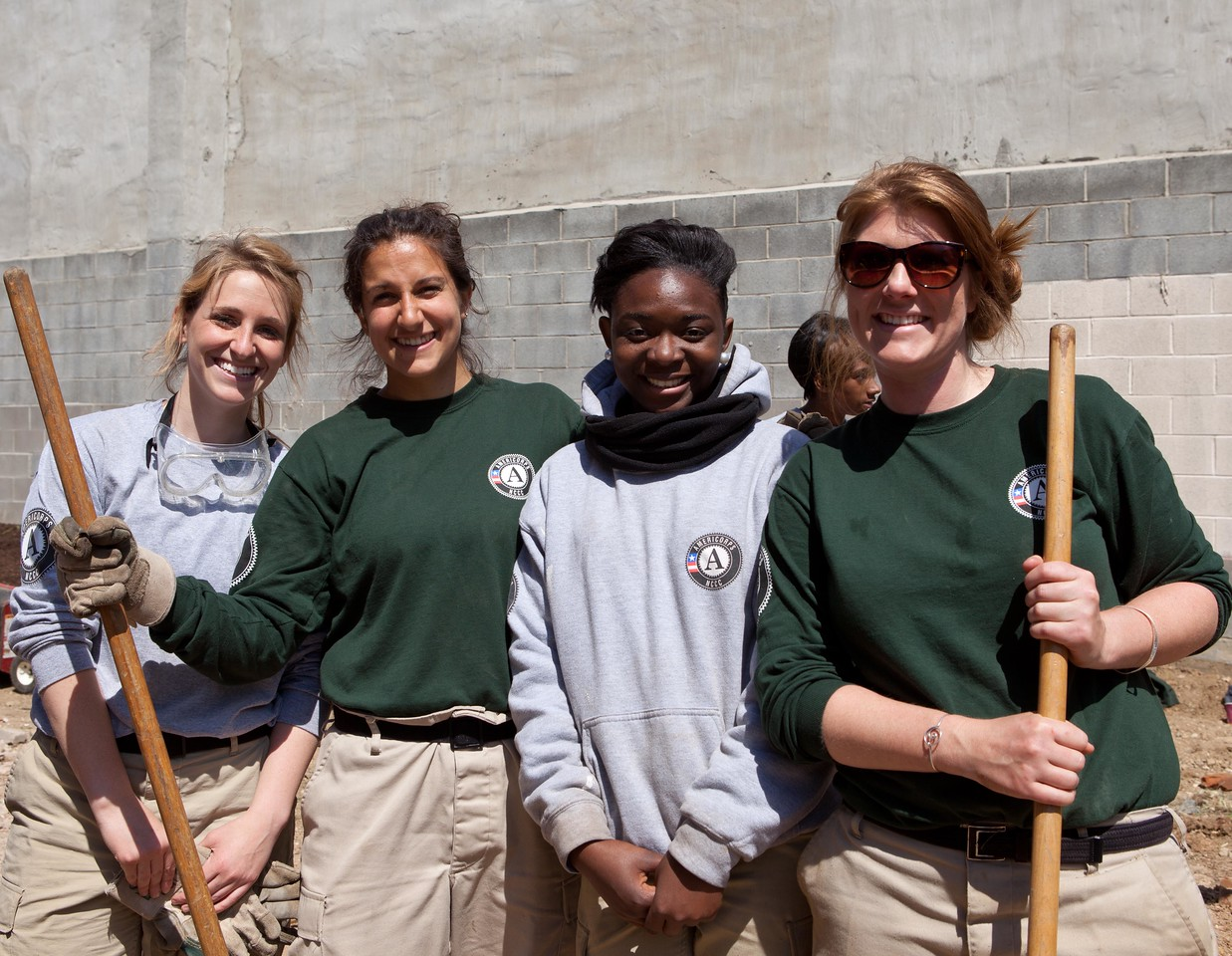 AmeriCorps members show their pride in a job well done at the Service Bowl in Baltimore, MD. Corporation for National and Community Service Photo.