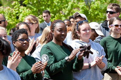 AmeriCorps and AmeriCorps NCCC members look on at the Service Bowl in Baltimore, MD. Corporation for National and Community Service Photo.