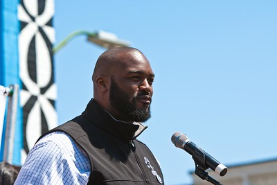 Joe Briggs of the NFL Players Association speaks at the Service Bowl in Baltimore, MD. Corporation for National and Community Service Photo.