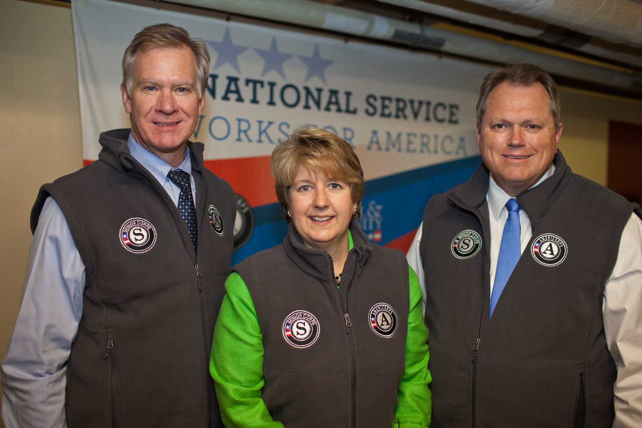 Mayor Christopher B. Coleman, of St. Paul, Minn., CEO, CNCS, Wendy Spencer, Mayor Scott Smith of Mesa, Ariz. Corporation for National and Community Service Photo.