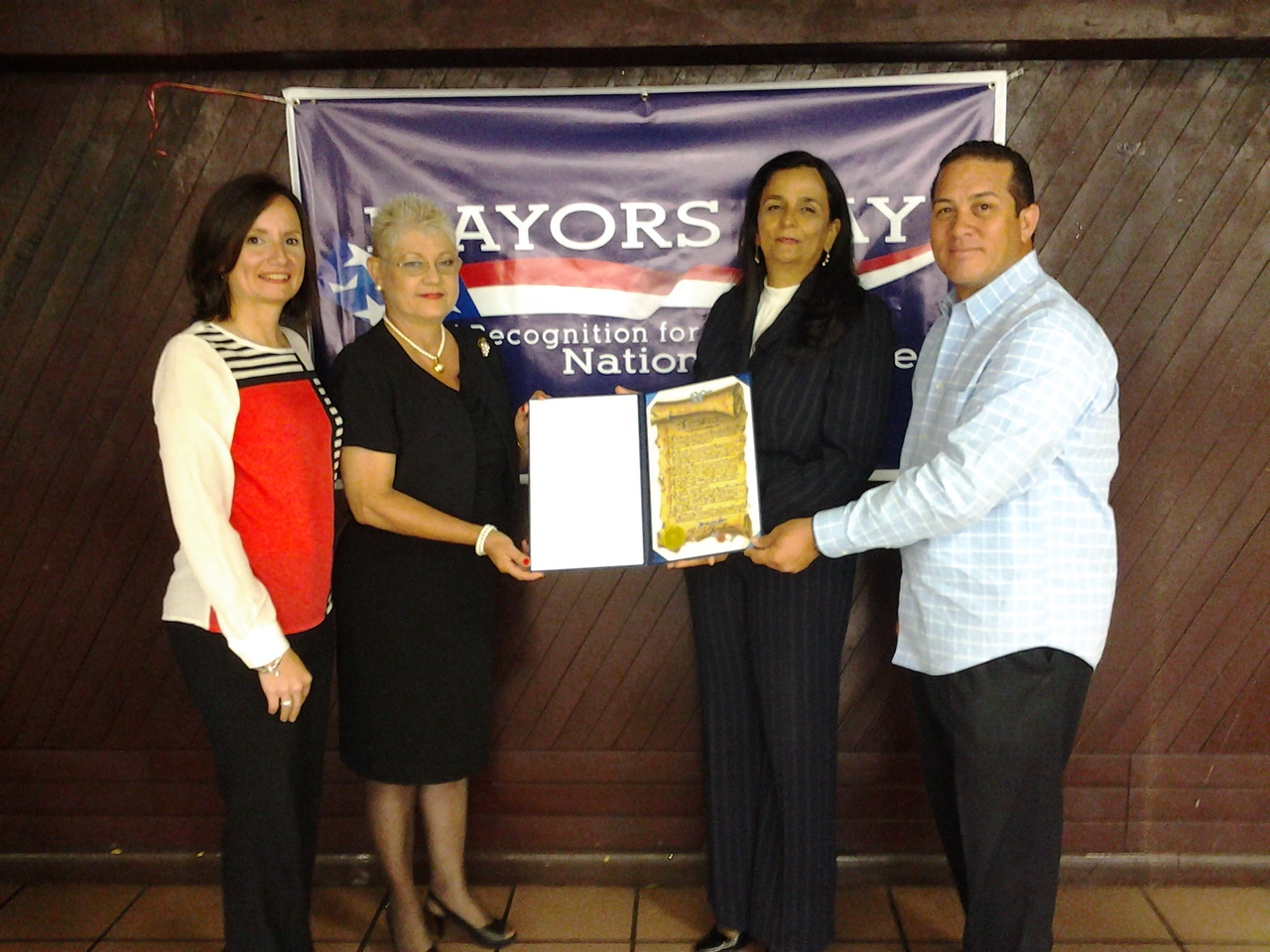 National service members participating in Mayors Day of Recognition for National Service in Bayamon, PR on April 1, 2014. Corporation for National and Community Service Photo.